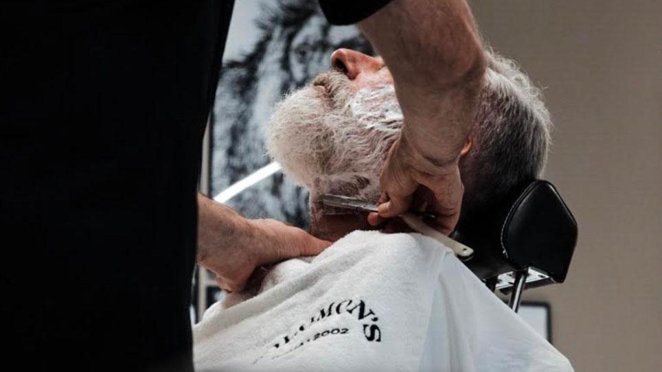 taglio barba bianca